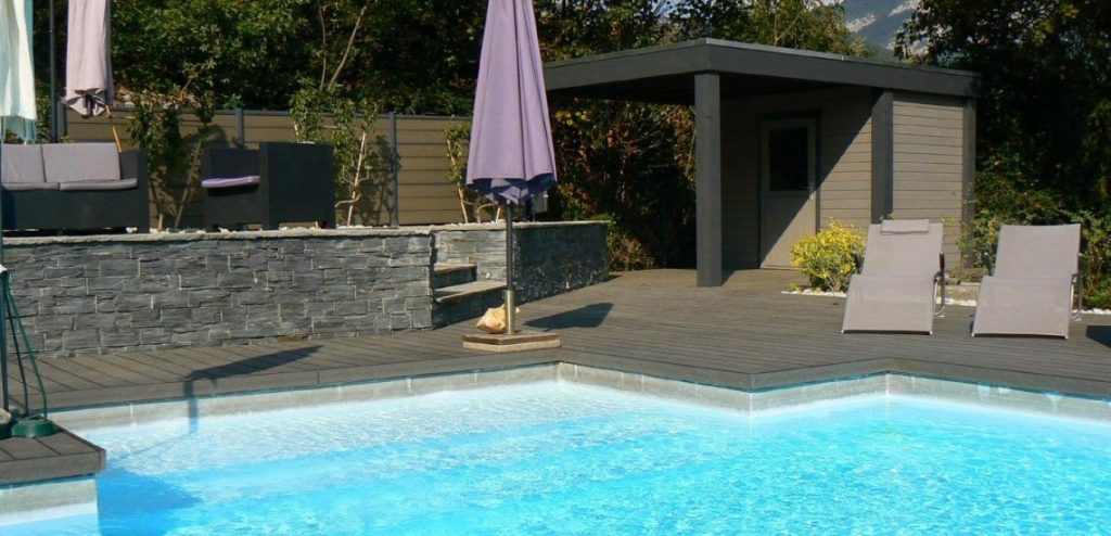Pool House Toit plat